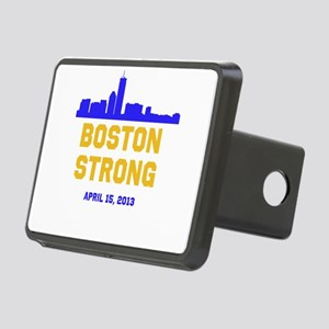 Boston Strong Blue and Gold Skyline Hitch Cover
