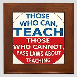 Those Who Can Teach Framed Tile