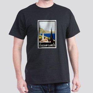 Antique Italian Lakes Travel Poster T-Shirt