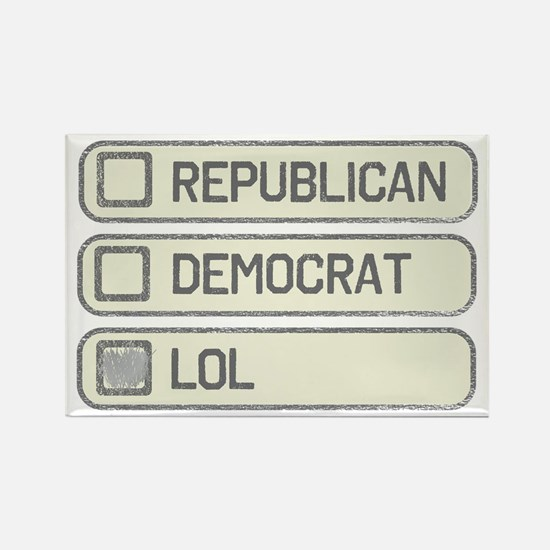 Partisan Multiple Choice Rectangle Magnet