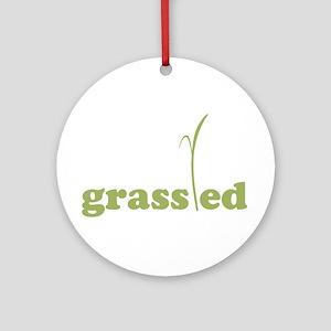 Grass Fed Organic Lifestyle Ornament (Round)