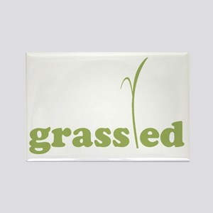 Grass Fed Organic Lifestyle Rectangle Magnet