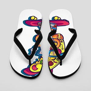 Skate pizza Flip Flops