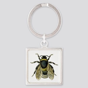 Bee Square Keychain