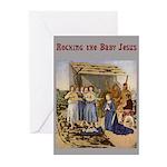 Rocking the Baby Jesus Greeting Cards, Box of 6