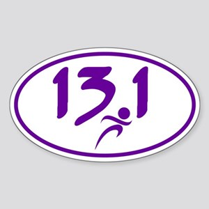 Purple 13.1 half-marathon Sticker