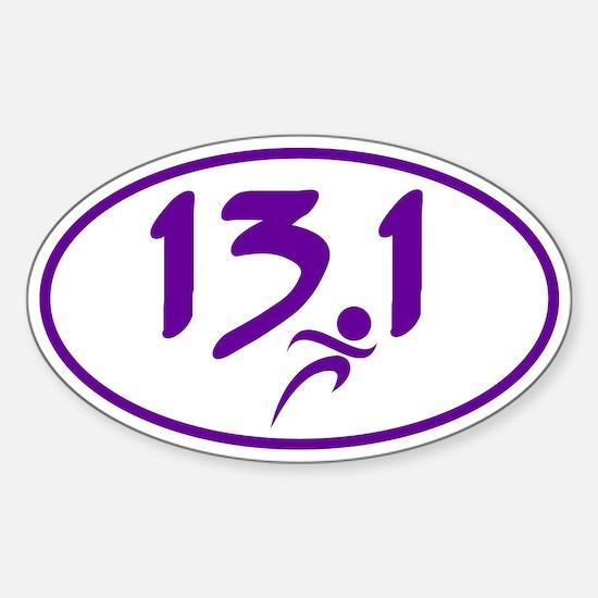 Purple 13.1 half-marathon Bumper Stickers