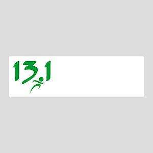 Green 13.1 half-marathon Wall Decal