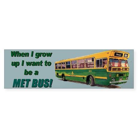 New Met Bus Sticker (Bumper)