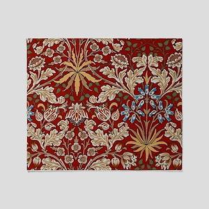 Hyacinth Design by William Morris Throw Blanket