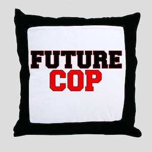 Future Cop Throw Pillow