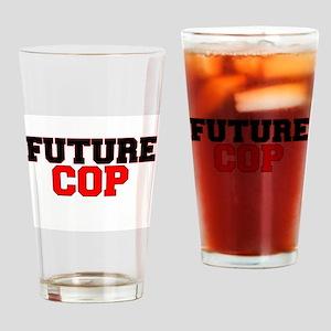 Future Cop Drinking Glass