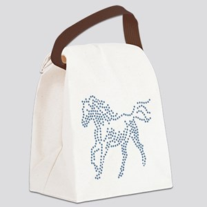 Dotted Horse Canvas Lunch Bag
