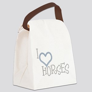 I Love Horses Canvas Lunch Bag