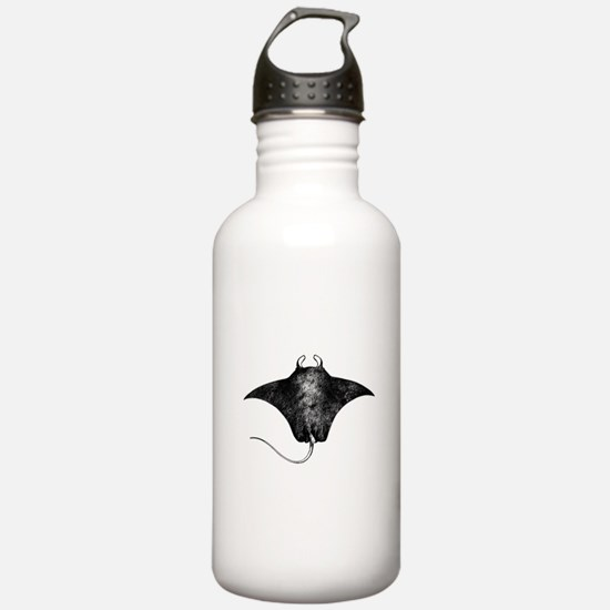 Manta Ray Logo (line art) Water Bottle