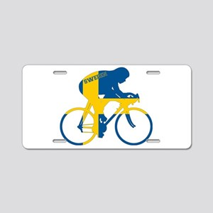 Sweden Cycling Aluminum License Plate