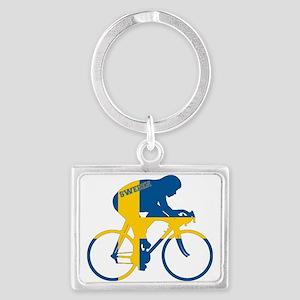 Sweden Cycling Landscape Keychain
