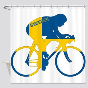Sweden Cycling Shower Curtain