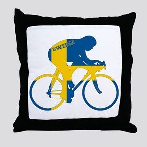 Sweden Cycling Throw Pillow