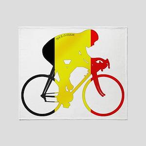 Belgian Cycling Throw Blanket