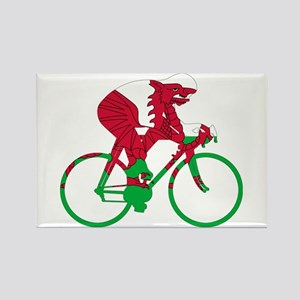 Wales Cycling Rectangle Magnet