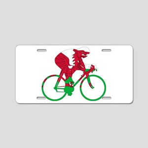 Wales Cycling Aluminum License Plate