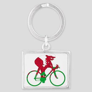 Wales Cycling Landscape Keychain