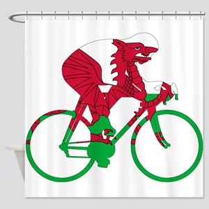 Wales Cycling Shower Curtain