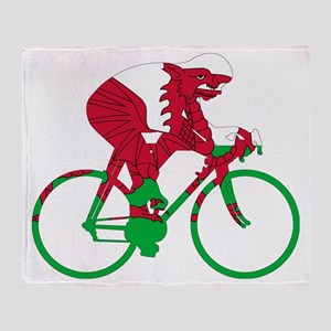 Wales Cycling Throw Blanket