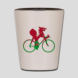 Wales Cycling Shot Glass