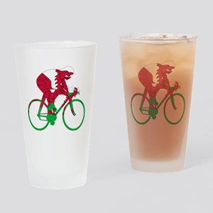 Wales Cycling Drinking Glass