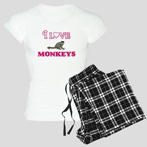 I Love Monkeys Pajamas