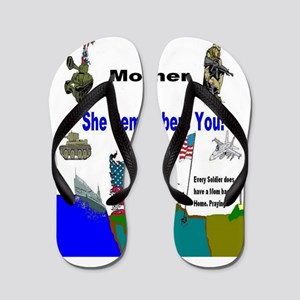 Military Mothers Day Flip Flops