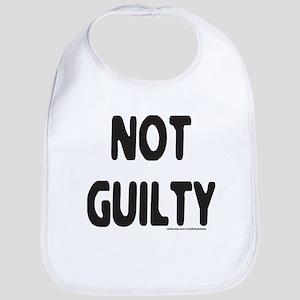 NOT GUILTY Bib