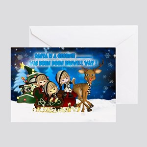 Geordie Elf Christmas Greeting Card
