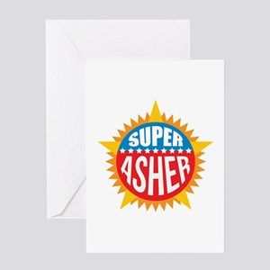 Super Asher Greeting Card
