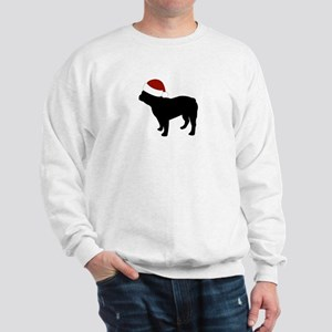 "Fr Bulldog ""Santa Hat"" Sweatshirt"