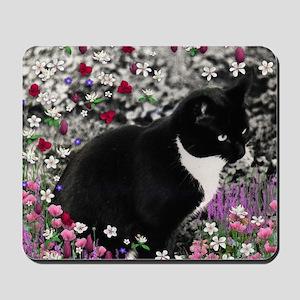 Freckles Tux Cat Flowers II Mousepad