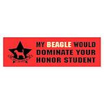 Beagle - Honor Student Domination Bumper Sticker