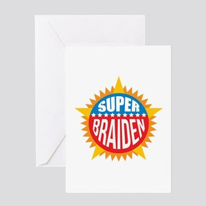 Super Braiden Greeting Card