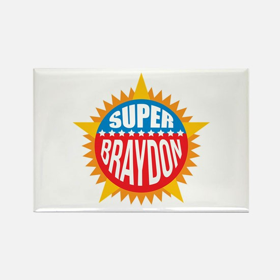 Super Braydon Rectangle Magnet