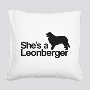 She's a Leonberger Square Canvas Pillow