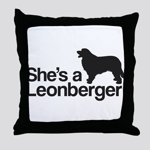 She's a Leonberger Throw Pillow