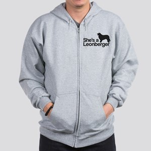 She's a Leonberger Zip Hoodie