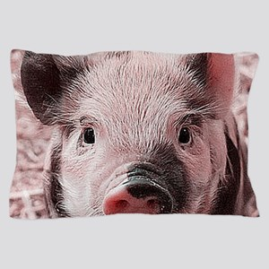 sweet piglet, pink Pillow Case