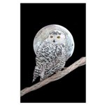 Snowy Owl and Moon Large Poster