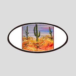 Saguaro cactus, desert art Patches