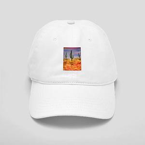 Saguaro cactus, desert art Baseball Cap
