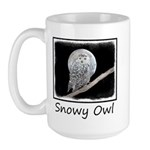 Snowy Owl and Moon 15 oz Ceramic Large Mug