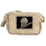 Snowy Owl and Moon Messenger Bag
